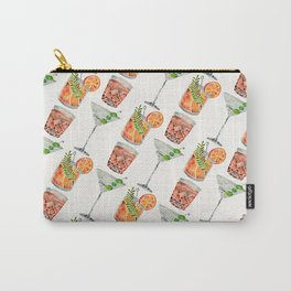 Classic Cocktails  – 1960s Watercolor Lineup Carry-All Pouch