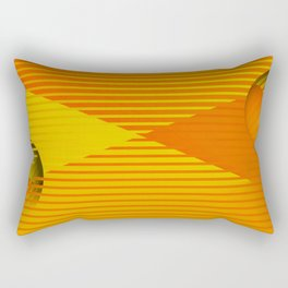 Yellow stripes and balls ... Rectangular Pillow