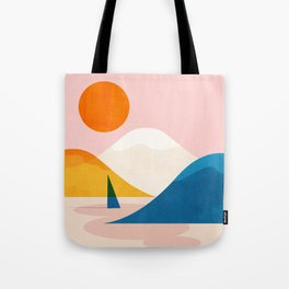 Abstraction_Lake_Sunset_Minimalism_002 Tote Bag