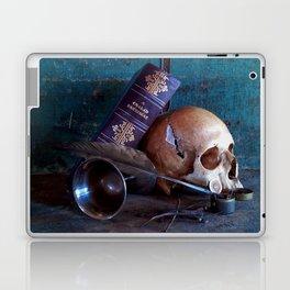 Skull in dark setup 3 Laptop & iPad Skin