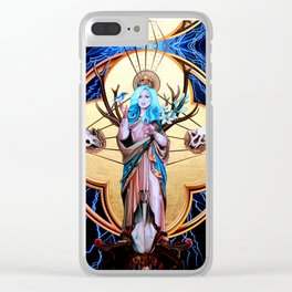 Ecos of Thunder Painting Clear iPhone Case