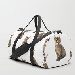 Brown Kitten Duffle Bag