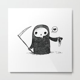 Valentines Day Reaper Metal Print