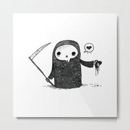 Valentines Day Reaper Metal Print