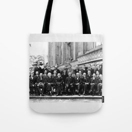 World-Renowned Physicists of 1927 at Solvay Conference Tote Bag