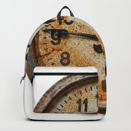 Old wall clock Backpack