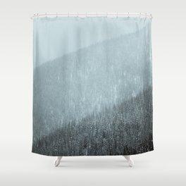 Snowy Mountain Hillsides Shower Curtain