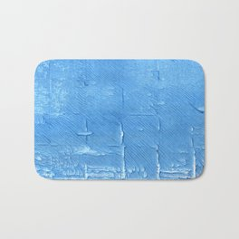 Blue Jeans abstract watercolor Bath Mat
