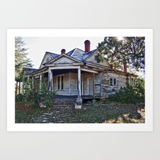 House on the Hill 3 Art Print