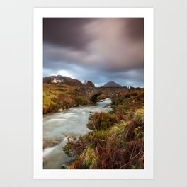 Sligachan Bunk House Art Print