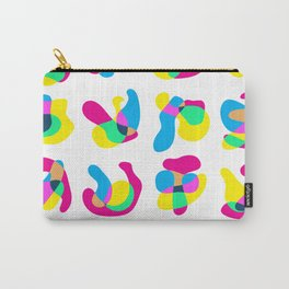 Cute CMYK Blobs Seamless Pattern Carry-All Pouch