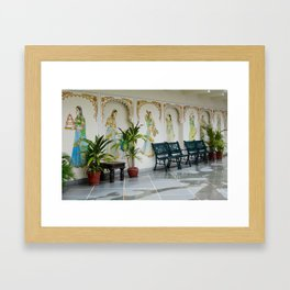 Drawings & Benches Framed Art Print