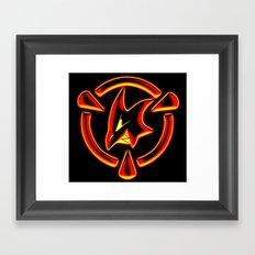 Red: Logo Framed Art Print