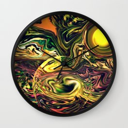 Waves in the sea Wall Clock
