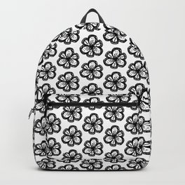 Hand drawn flower doodle pattern Backpack