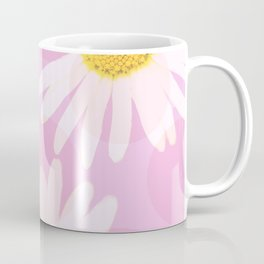 Flowers and dots on a pink background - lovely summery - #daisy #society6 #buyart Coffee Mug