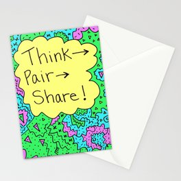 Think, Pair, Share! Stationery Cards