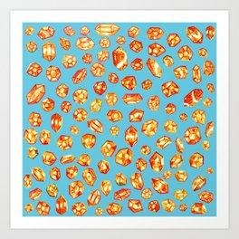 Gemstone Field Art Print