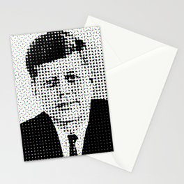 John F Kennedy in Dots Stationery Cards