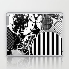 Black And White Choas - Mutli Patterned Multi Textured Abstract Laptop & iPad Skin