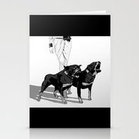 rottweiler Stationery Cards featuring Fashion Rottweiler  by Gregory Casares
