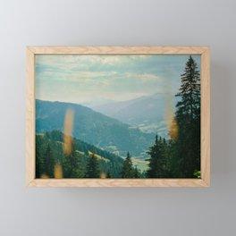 Mountains View Nature Photography Art Print Framed Mini Art Print