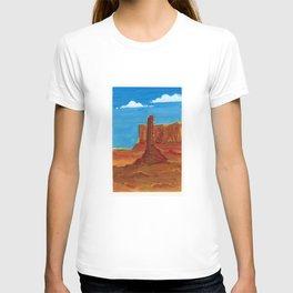 arizona landscape gouache on paper T-shirt