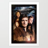 firefly Art Prints featuring Firefly by SB Art Productions