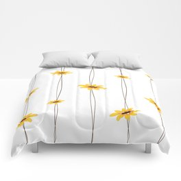 Simple Sunflower String Comforters