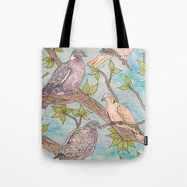Various Pigeons Tote Bag