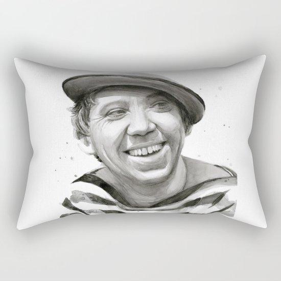 Yuriy Nikulin Portrait Watercolor | Юрий Никулин портрет Rectangular Pillow