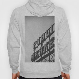 Seattle Pike Place Public Market Black and White Hoody