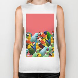 watermelon interior parrots design Biker Tank