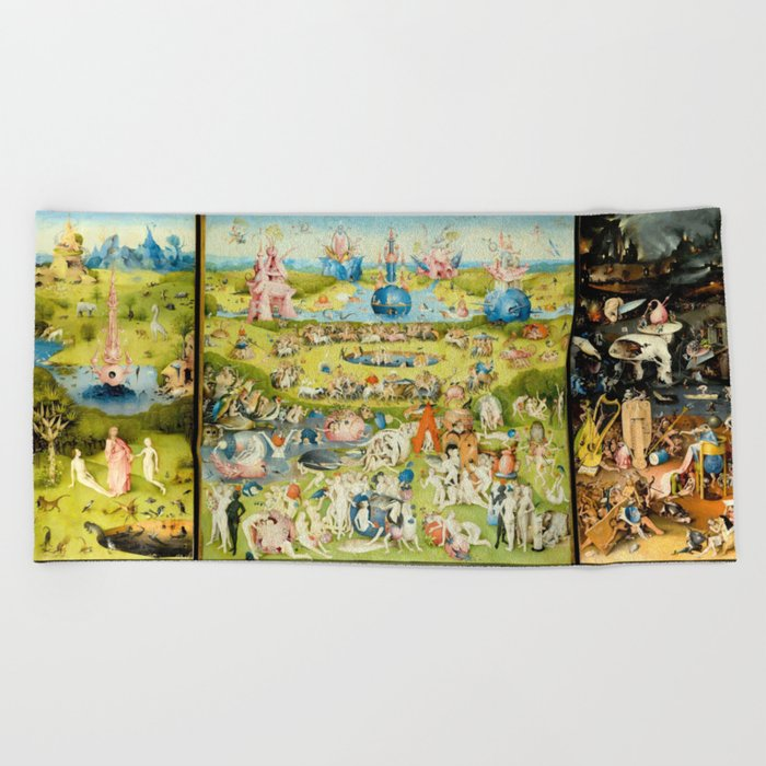 The Garden of Earthly Delights by Bosch Beach Towel