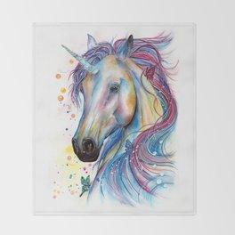 Whimsical Unicorn Throw Blanket