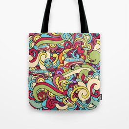 Colorful Hippie Swirl Pattern 2 Tote Bag