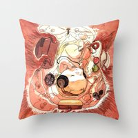 bouletcorp Throw Pillows featuring In Utero by Bouletcorp