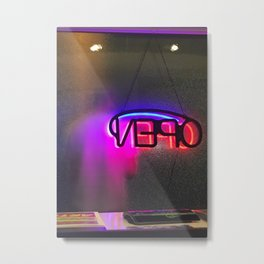 By The Glow Of The Lobby Cannabis 420 Photography MMJ Dispensary Scenery Ambient Neon Bright Night Street Photography Print Metal Print
