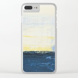 Simon Carter Painting Cold Commotion Clear iPhone Case