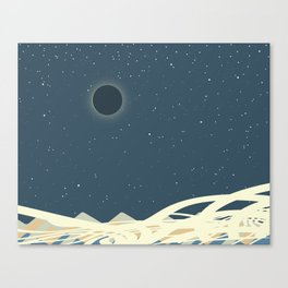 Total Solar Eclipse Art Canvas Print