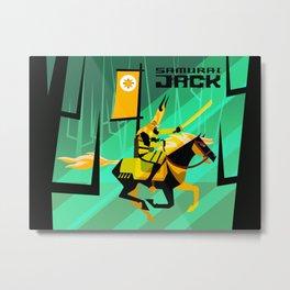 Last Ride of Samurai Jack (Gold) Metal Print
