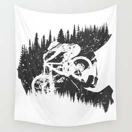 Black Fullface Wall Tapestry