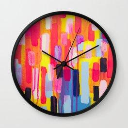 Neon Cities Wall Clock