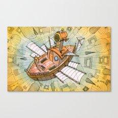 Atlantis Flying Ship #1 Canvas Print