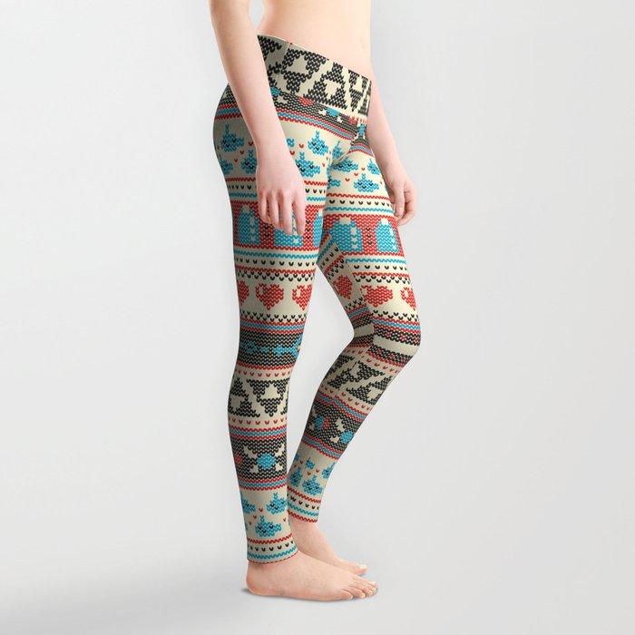 Fair-Hyle Knit Leggings