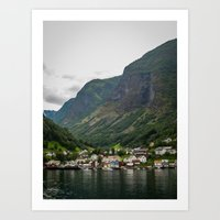 norway Art Prints featuring Norway by Michelle McConnell