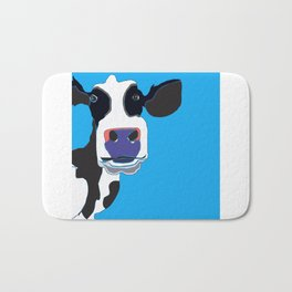 Cow in the Blue Sky Bath Mat