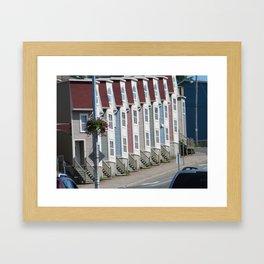 Colorful Houses St Johns Newfoundland Canada Framed Art Print