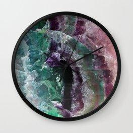 Rainbow Quartz Stone Wall Clock
