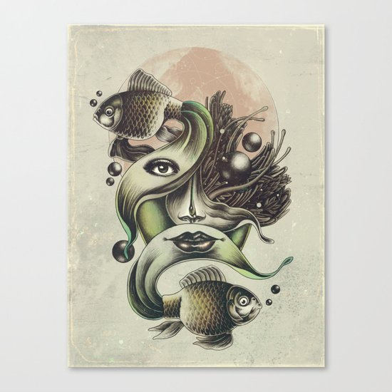 Fish Tale Canvas Print